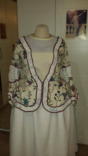 6 Cate's 1720-40s jacket for the Historical Sew Monthly