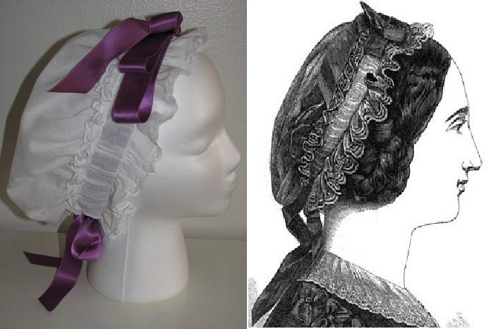 6 Christina's 1860s breakfast cap for the Historical Sew Monthly