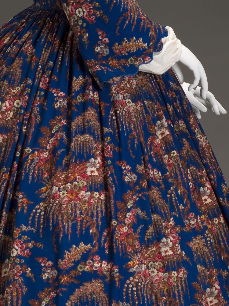 Dress, American, 1860s, wool, silk, cotton, metal, plastic, Indianapolis Museum of Art 2007.761