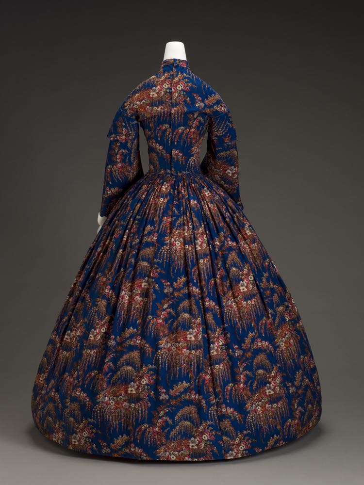 Dress, American, 1860s, wool, silk, cotton, metal, plastic, Indianapolis Museum of Art, 2007.761