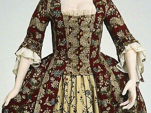 Dress (robe à la française), French 1775, MFA Boston, 55.1006