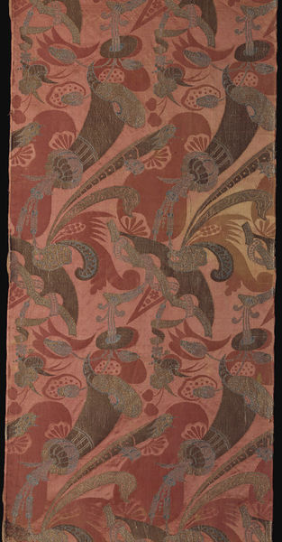 Dress fabric,, France, ca. 1700, Woven silk, damask brocaded, gold and silver thread, Victoria & Albert Museum, T.315-1977