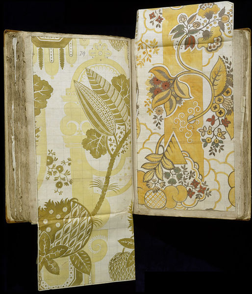 Fabric design by James Leman, dated 05:10:1708, Spitalfields, England, Pencil, pen and ink and watercolour on laid paper, Victoria & Albert Museum, E.1861-83-1991