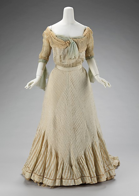 Evening dress, Raoul Lafontan, 1900–1903, French, silk, Metropolitan Museum of Art, 2009.300.3308a, b