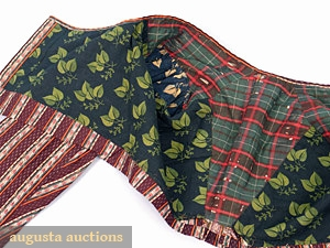 Lining of cotton spencer, French, c 1815, Augusta Auctions
