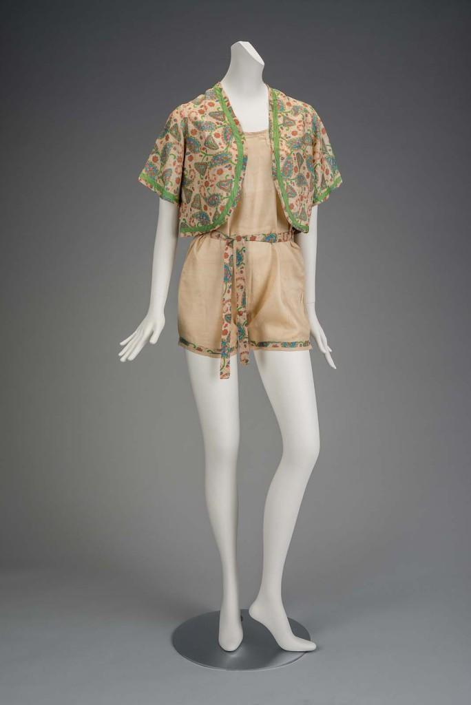 Playsuit, Japanese, about 1920, silk, MFABoston, 2013.239.1-3