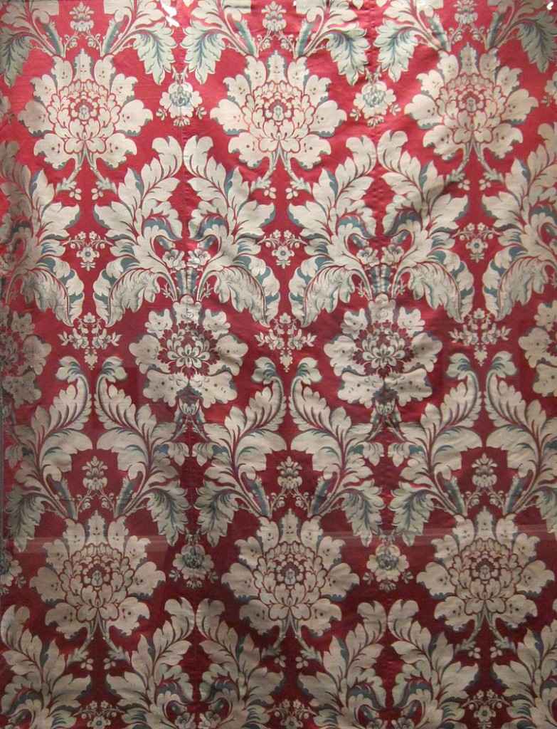 Silk furnishing fabric, lampas weave, Italy, late 17th-early 18th century, Honolulu Museum of Art