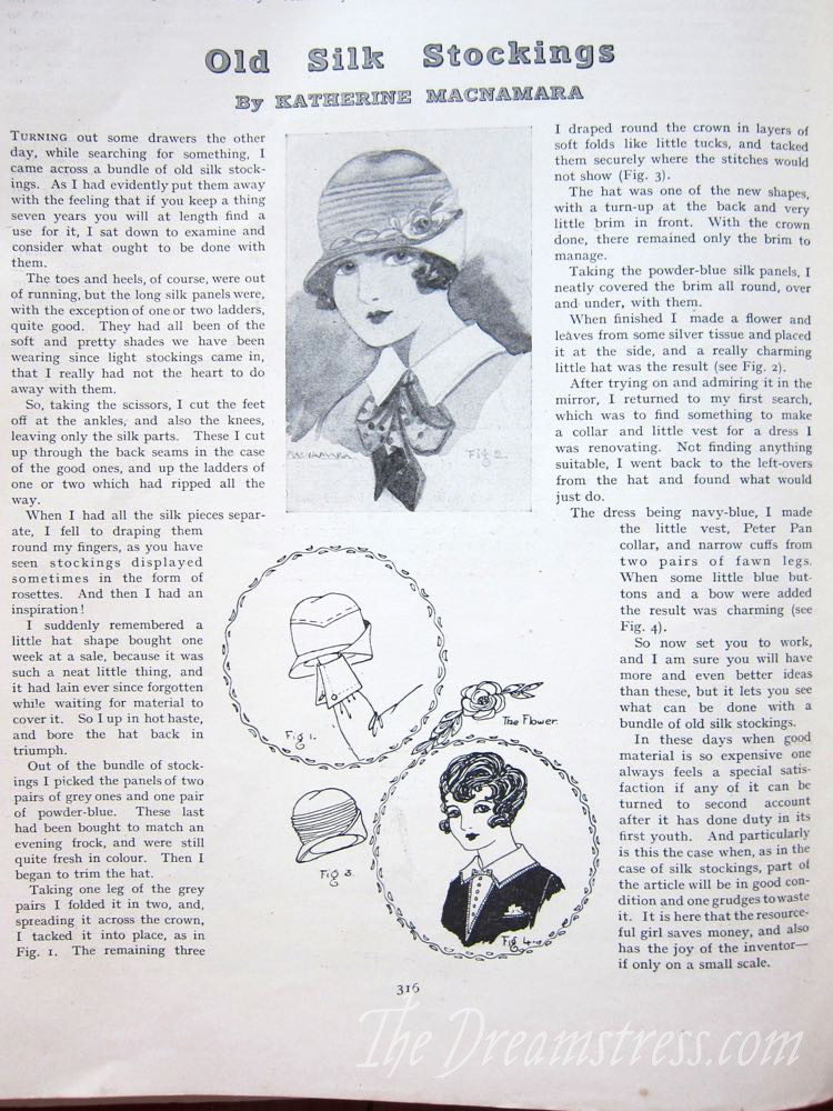 The Women's Magazine, Feb 1928 thedreamstress.com