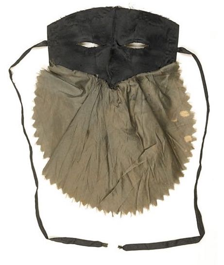 Masquerade mask. 1780s © Museum of London via BBC Radio 4