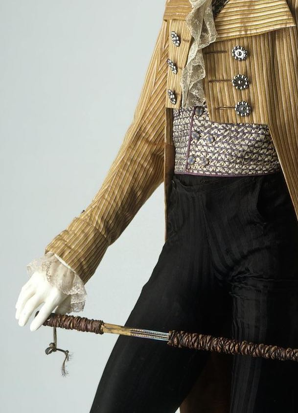 Waistcoat, England, Great Britain, 1795-1800, Silk, applied ribbonwork, lined and backed with cotton, © Victoria & Albert Museum, T.14-1955