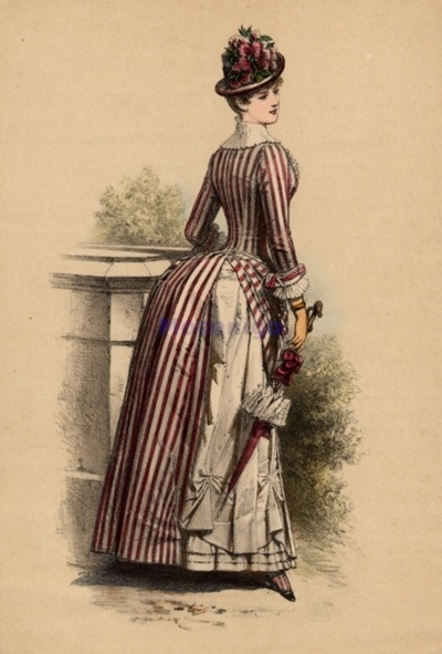 Walking dress, 1880s
