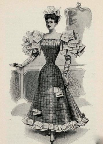 Wastepaper Basket costume, 1896