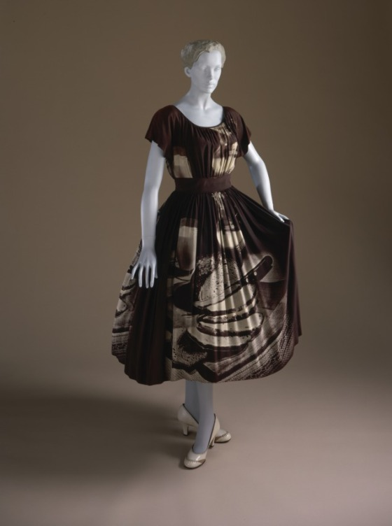 Woman's Dress, Gilbert Adrian, (1903-1959) United States, California, circa 1951, LACMA, M.70.92