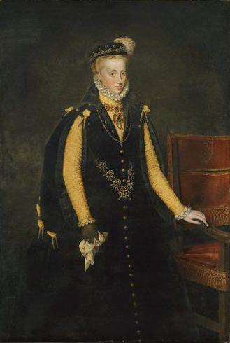 Anthonis Mor, Anna of Austria, Queen of Spain, 1570, Vienna, Kunsthistorisches Museum Gemäldegalerie Inventory number GG_3053