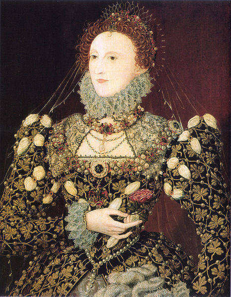 Elizabeth I, the Phoenix portrait, oil on panel, National Portrait Gallery, L00128. Date circa 1575-7