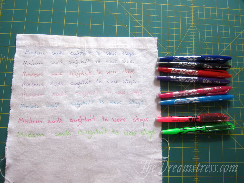 Pilot Frixion Pens My Newest Favourite Sewing Trick The Dreamstress