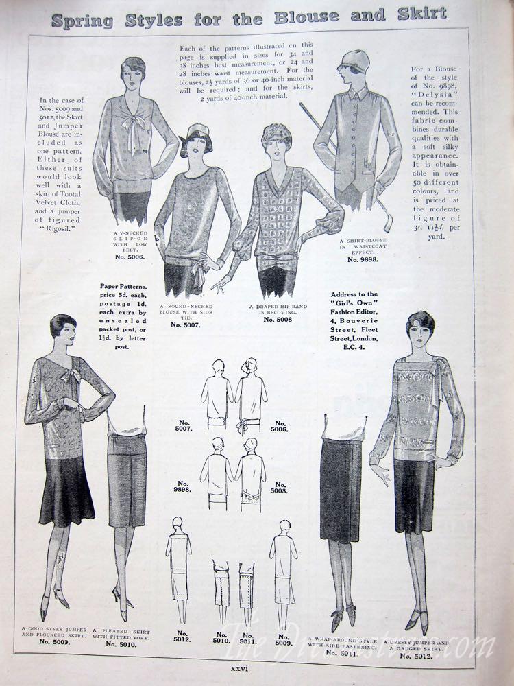 The Women's Magazine, Feb 1928 thedreamstress.com