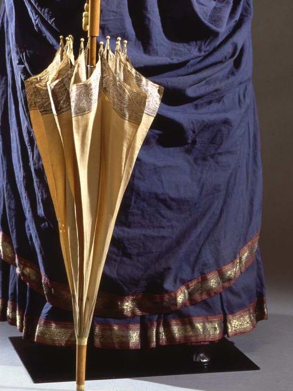 Walking dress in blue cotton muslin, ca. 1884, Galleria del Costume di Palazzo Pitti, 00000018 via Eurpeana Fashion