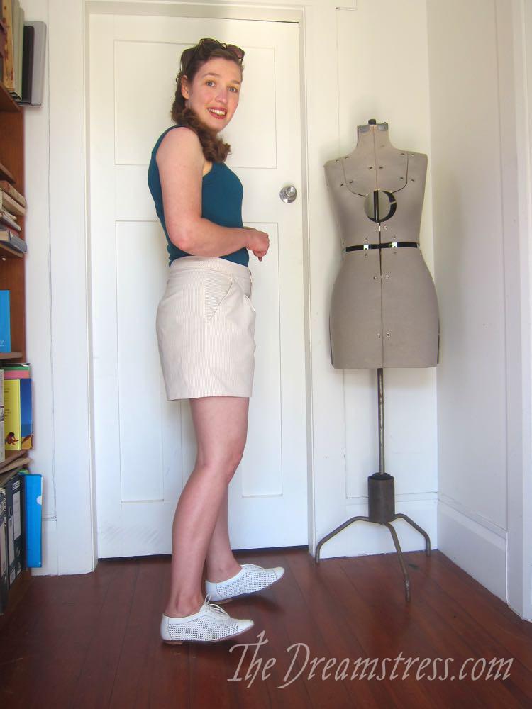Clamdigging shorts in Dunedin, thedreamstress.com