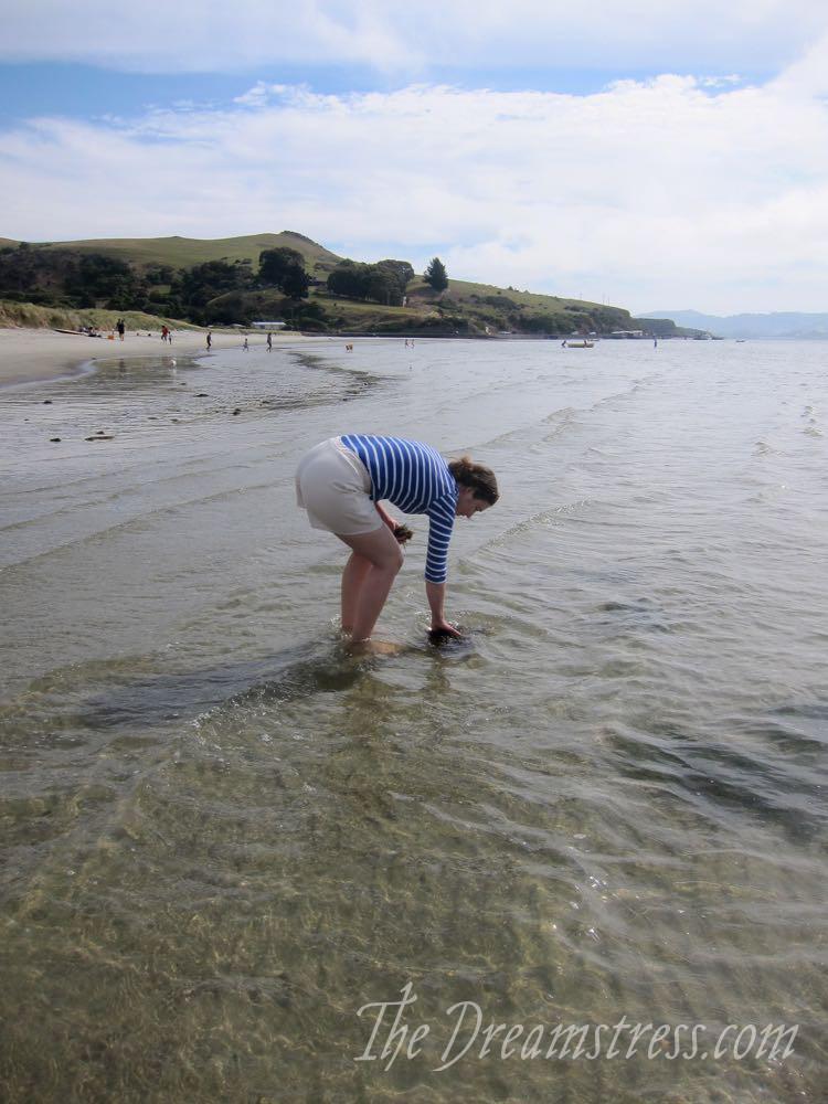 Clamdigging in Dunedin, thedreamstress.com
