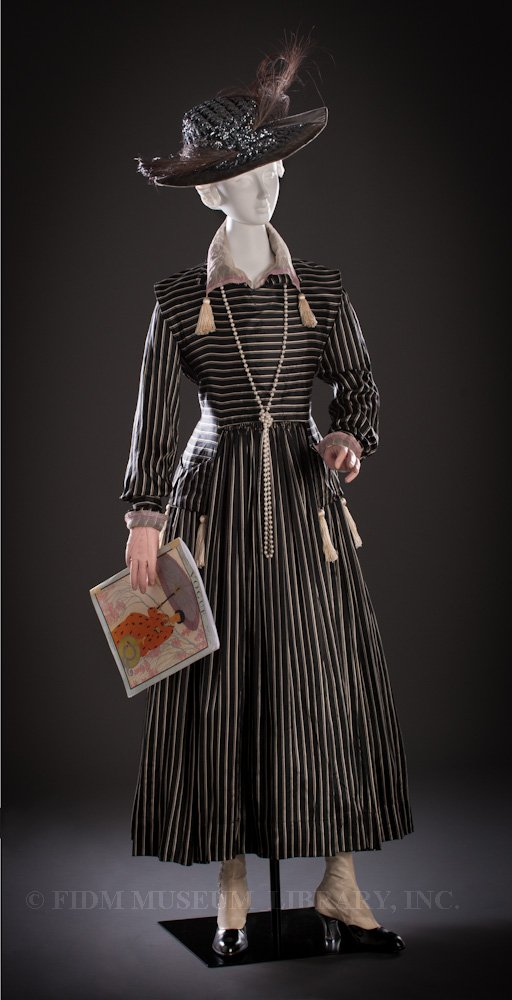 Day Dress, Harvey Nichols, London, c. 1916, Helen Larson Historic Fashion Collection via the FIDM Museum Blog