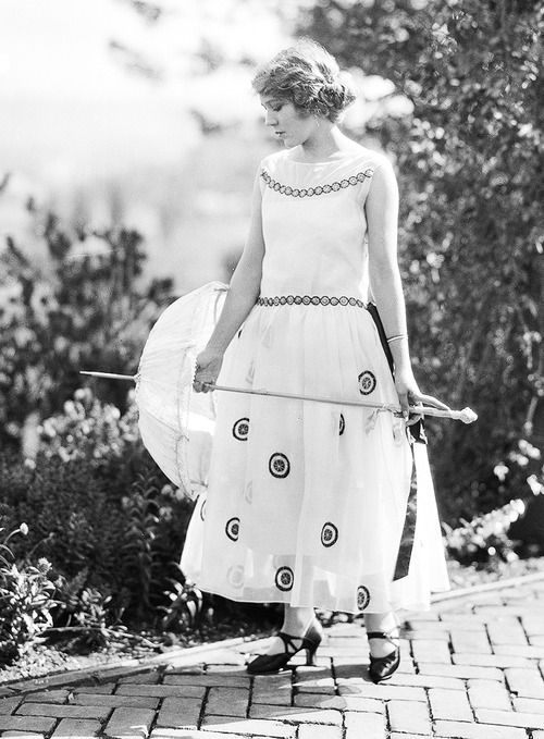 Mary Pickford in a Robe de Style, possibly by Lanvin, c. 1920