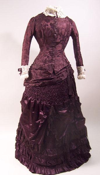 Wedding dress, silk, 1882-5, © Manchester City Galleries, 1961.979