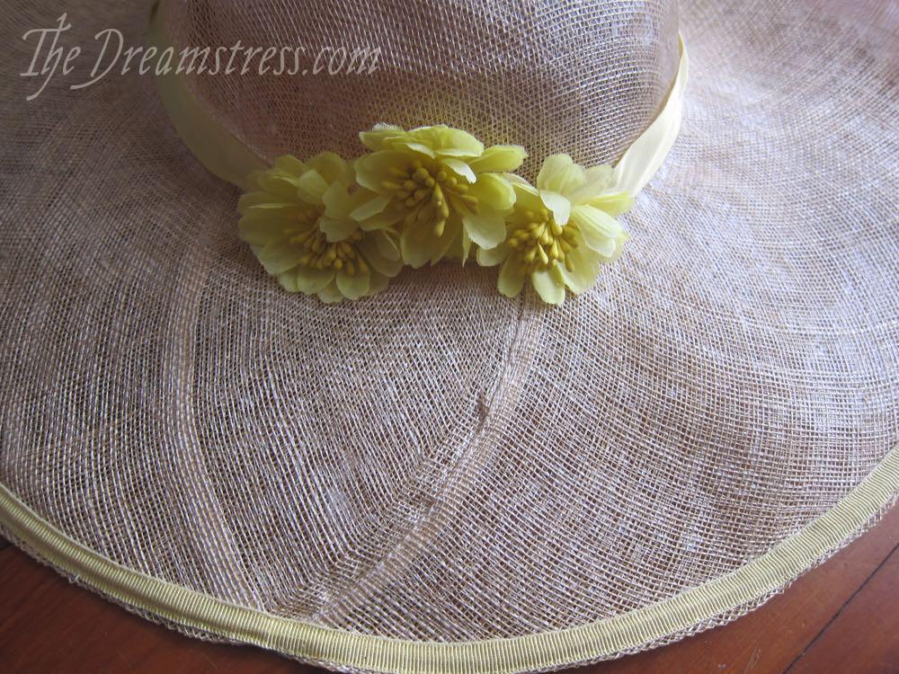 Making a 1920s sinamay sunhat, thedreamstress.com