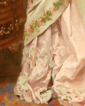 Toilette (hem detail), Jules James Rougeron, 1877
