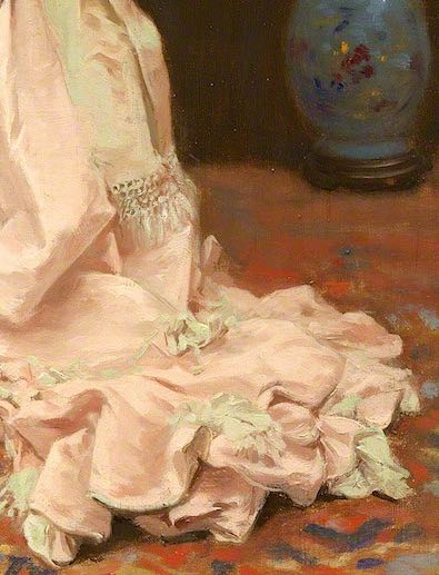 Toilette (train detail), Jules James Rougeron, 1877