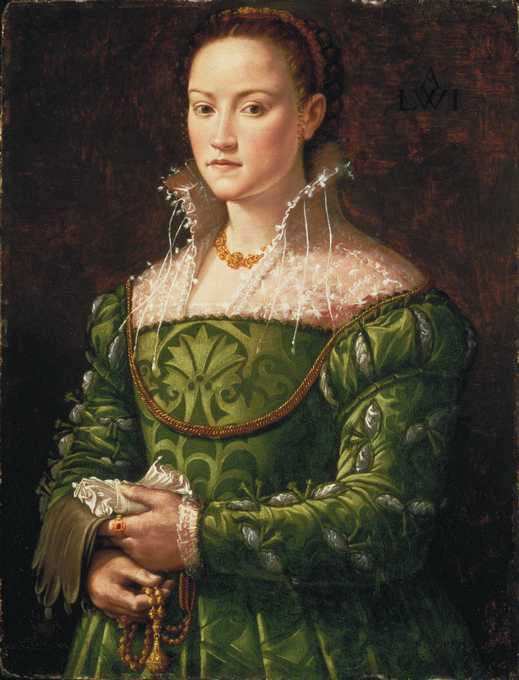 Portrait of a Florentine noblewoman, ca. 1540, possibly by Agnolo di Cosimo (Bronzino) San Diego Museum of Art, San Diego California