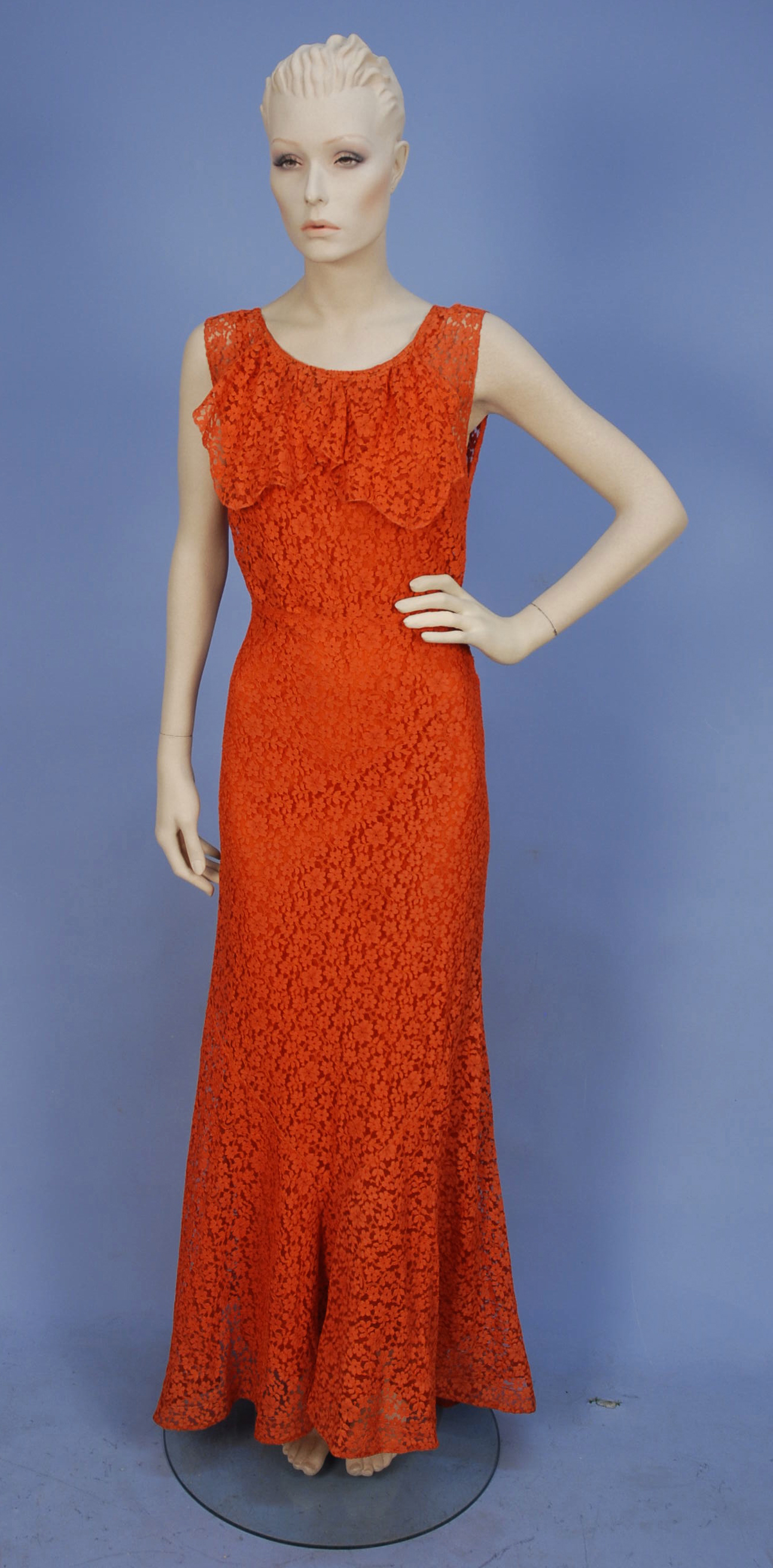 Rate the Dress: 1930s Tangerine lace - The Dreamstress