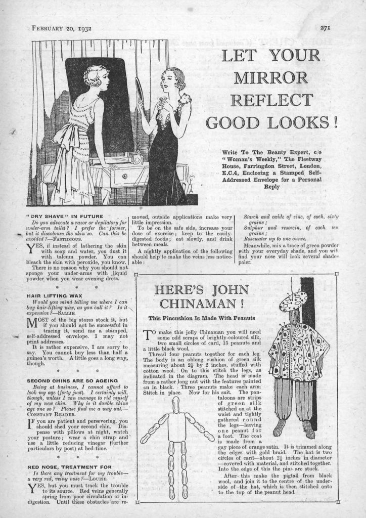 Beauty resolutions from 1932