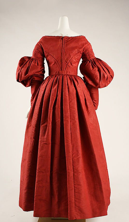 Dinner or reception dress, ca. 1837, American, silk, Metropolitan Museum of Art, 37.192