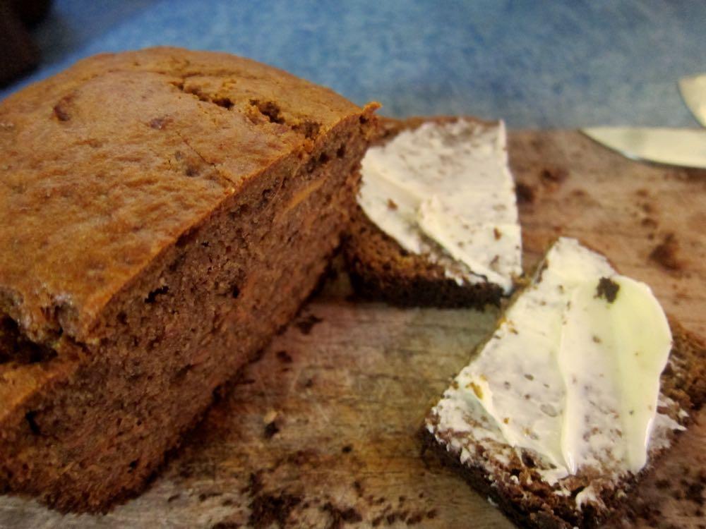 Canistel bread, Molokai, Hawaii, thedreamstress.com
