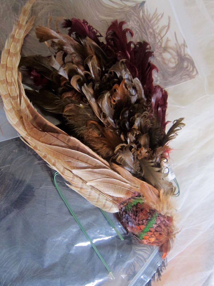 Millinery feathers, thedreamstress.com