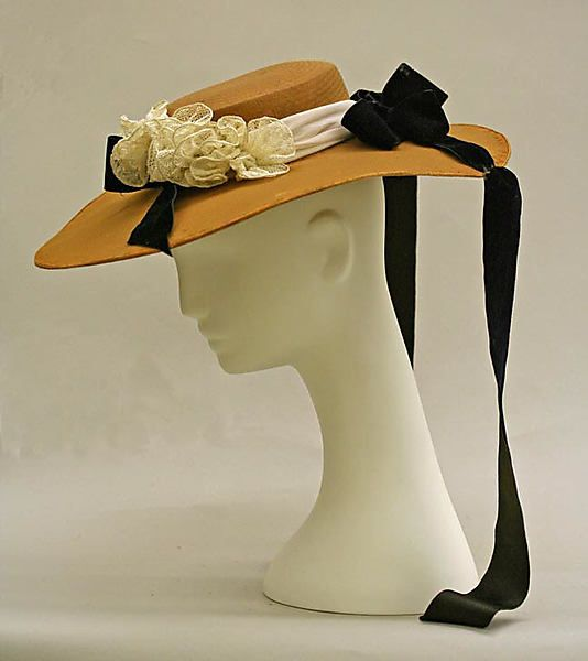 Hat, American, straw, mid-19th century, Metropolitan Museum of Art, 26.177.2