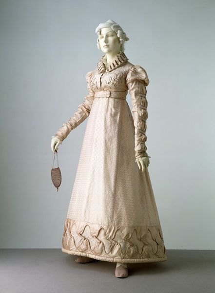 Dress and spencer jacket, England, Great Britain, 1823, Figured silk, trimmed with silk, lined with silk, Victoria and Albert Museum, T.28&A-1983