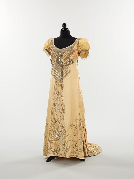 Evening dress, House of Drécoll, 1910, silk, rhinestones, Metropolitan Museum of Art, 2009.300.2500