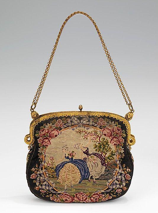 Evening Purse, French, 1925–35, silk and metal, Metropolitan Museum of Art, 2009.300.2184