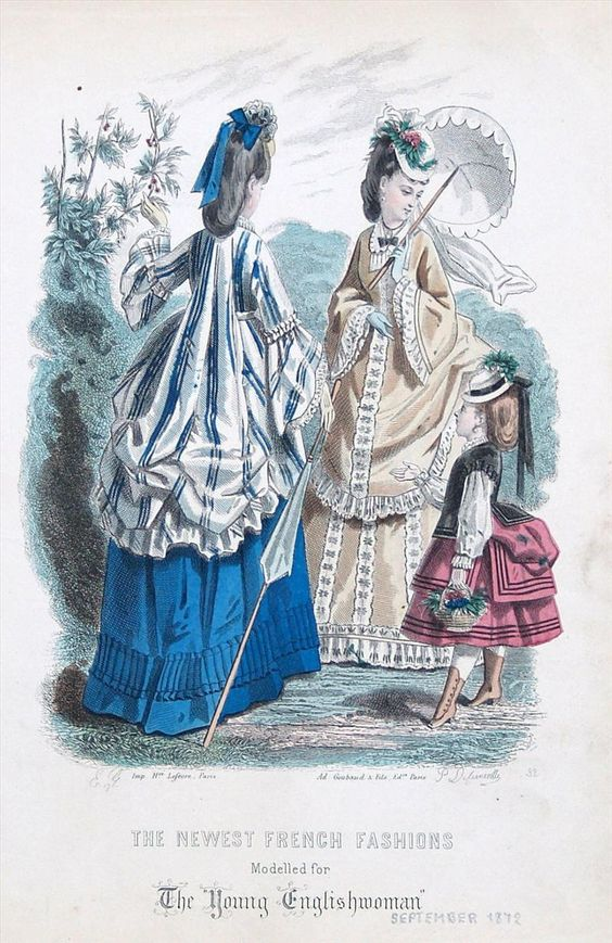 A dress featuring a 'Watteau' back, September, 1872 - The Young Englishwoman