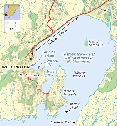 Wellington Harbour (Port Nicholson) via Te Ara Encyclopedia of NZ