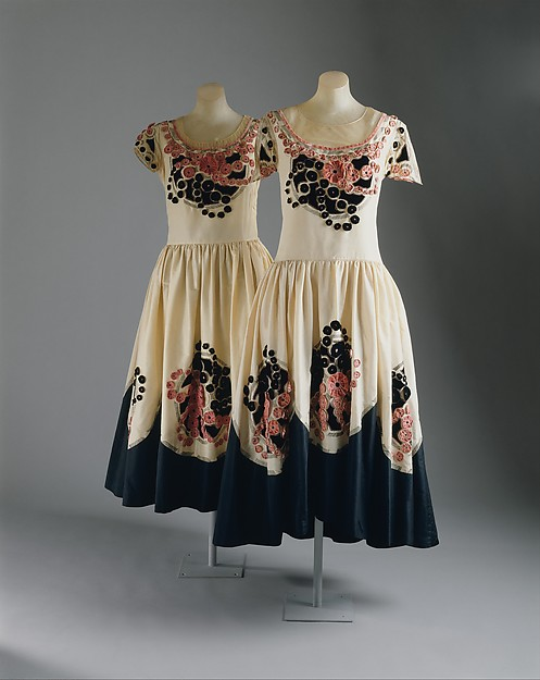 A pair of Robe de Style, House of Lanvin (French, founded 1889), Jeanne Lanvin (French, 1867–1946), 1924–25, French, silk, C.I.56.49.1 (left), 1979.122.1 (right)