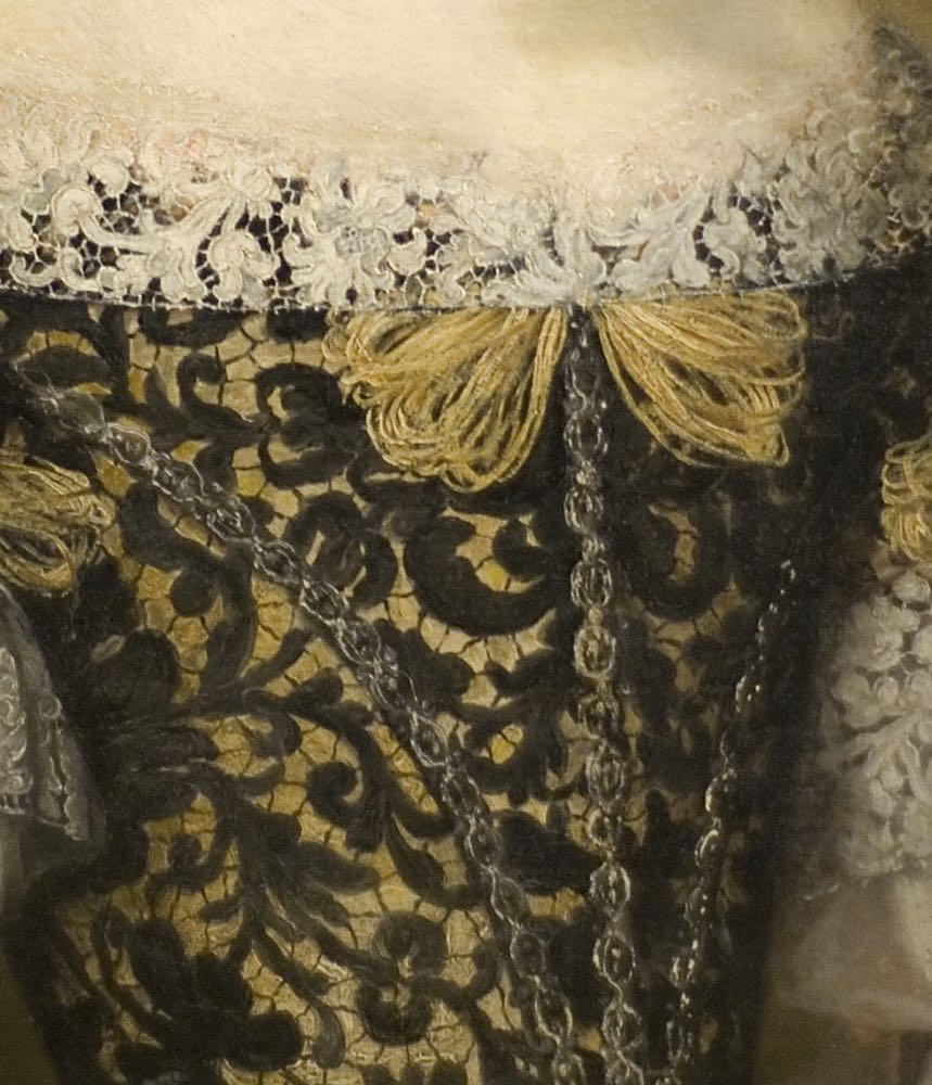 Anna Caffarelli Minuttiba, Jacob Ferdinand Voet, ca 1676. Fine Arts Museums of San Francisco: de Young Museum, Palace of the Legion of Honor (detail of bodice)