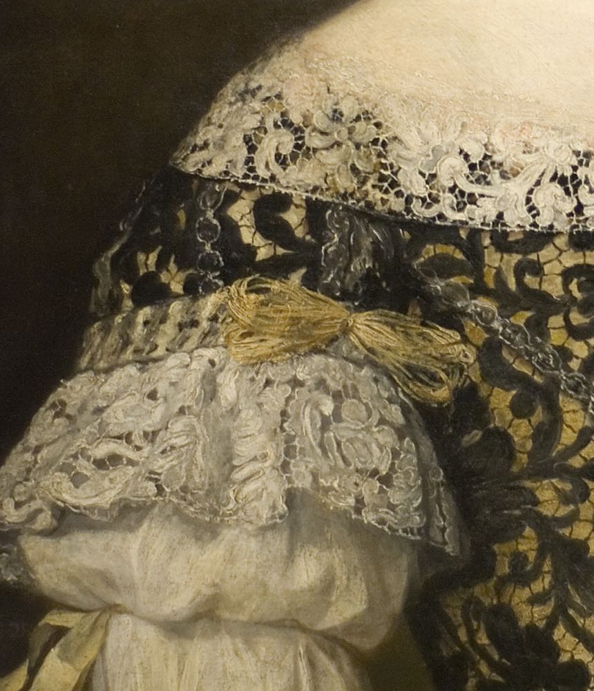 Anna Caffarelli Minuttiba, Jacob Ferdinand Voet, ca 1676. Fine Arts Museums of San Francisco: de Young Museum, Palace of the Legion of Honor (detail of sleeve)
