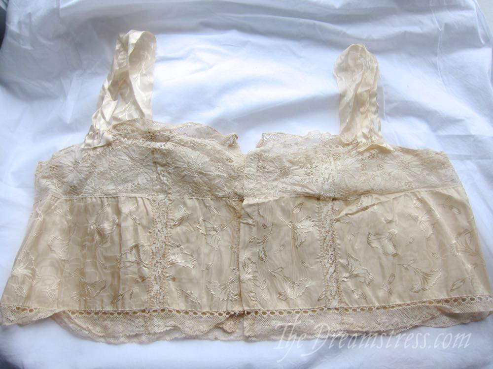 A 1910s-early 20s brassiere/bust cover, thedreamstress.com