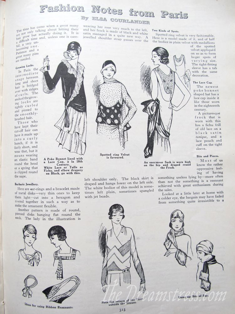 Fashion Notes from Paris, the Girls Own Annual, 1928, thedreamstress.com
