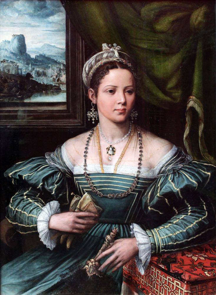 Portrait of a Lady, Peter de Kempeneer (previously attr. to Girolamo da Carpi), 1535-1550, Städel Museum, Frankfurt