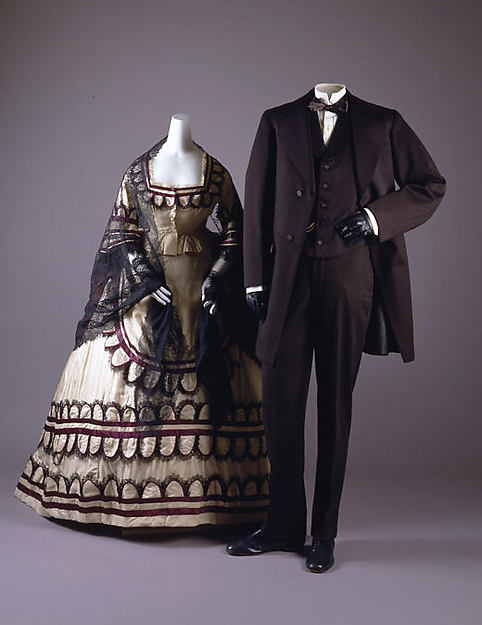 Dress,1868, British, silk, Metropolitan Museum of Art, C.I.37.46.33a–d