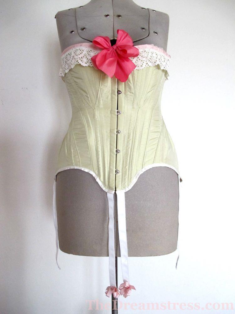 TVEO1, 1900s corset, Edwardian corset thedreamstress.com